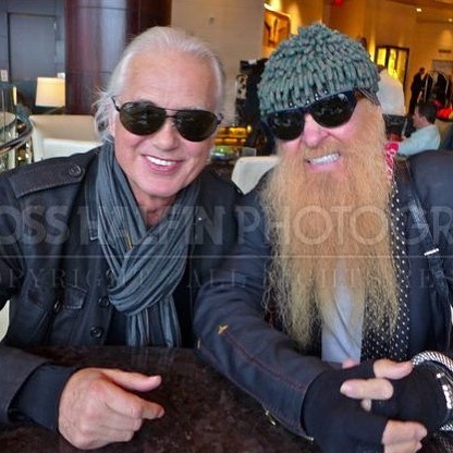 Jimmy Page and the Rev Billy Gibbons Because the internethellip