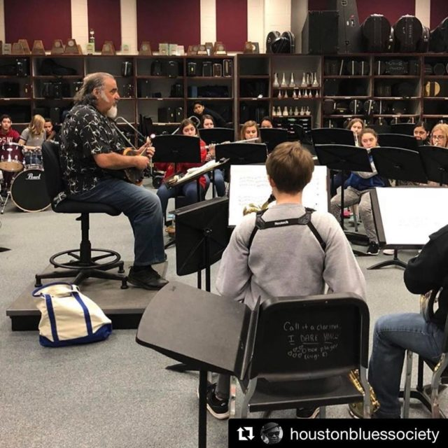 Repost houstonbluessociety Blues 20 class today at Clear Creek ISDhellip