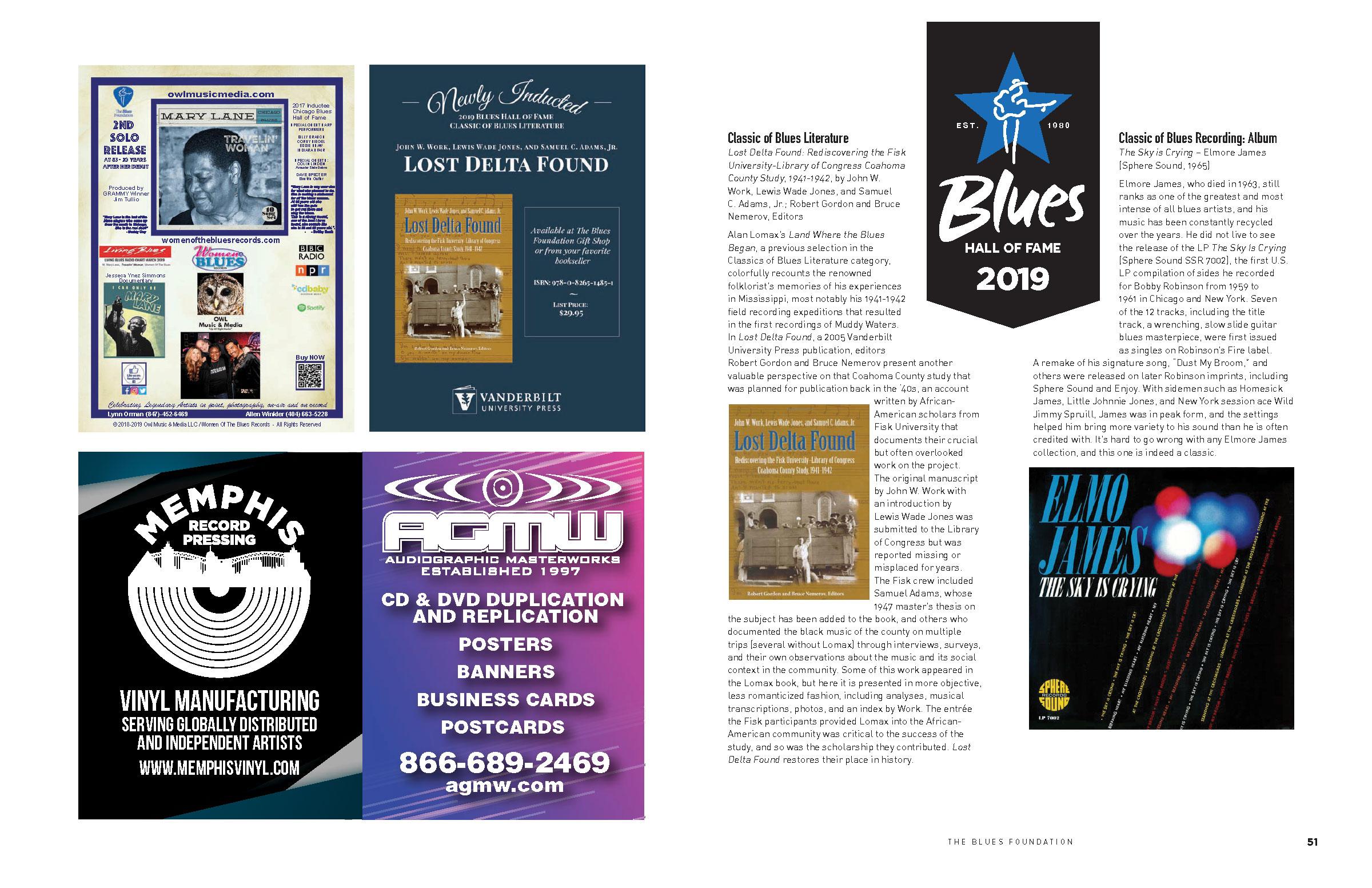 BMA Event Program - Blues Foundation