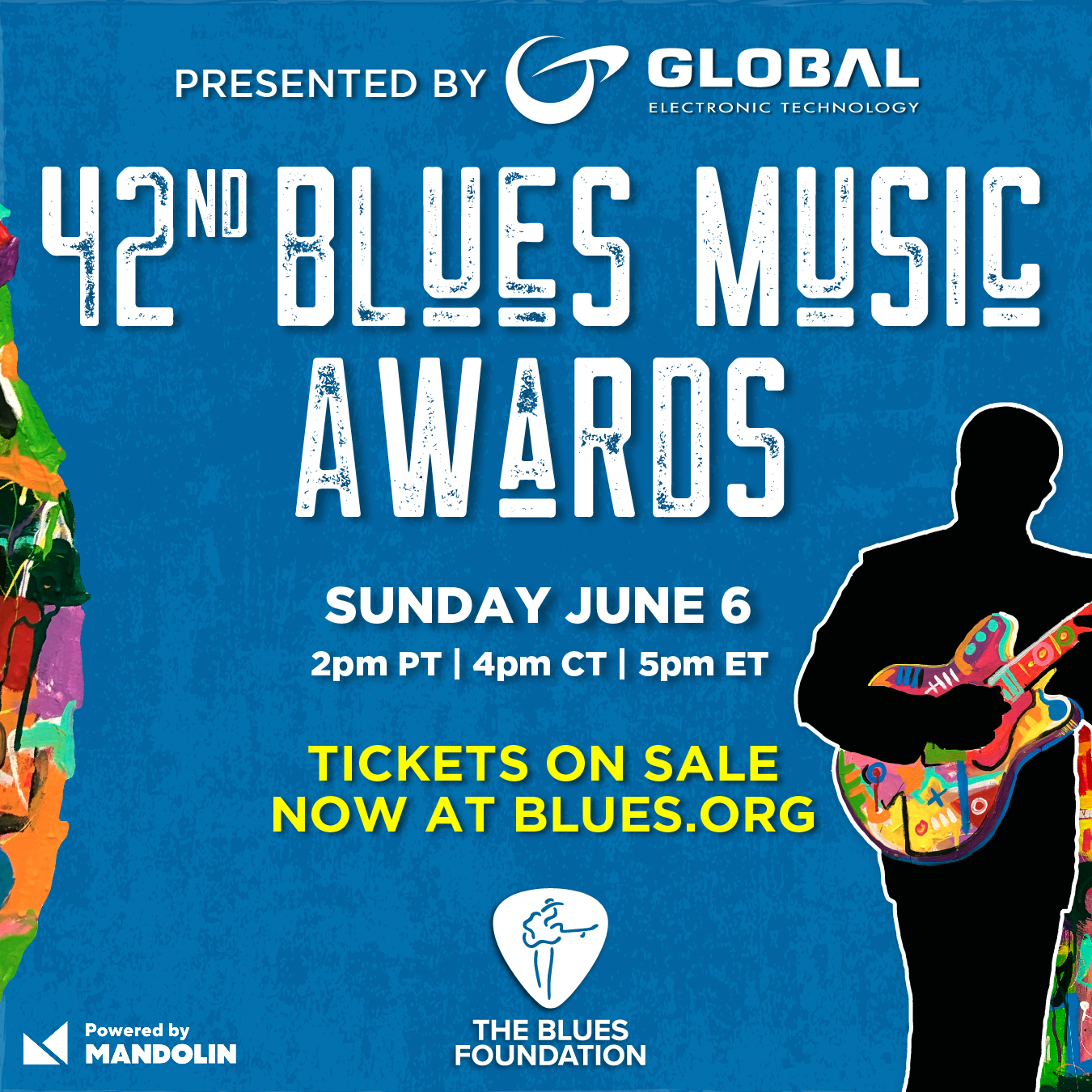 Logo for 42nd Annual Blues Music Awards